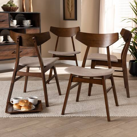 Danica Mid-Century Modern Transitional 4-Piece Dining Chair Set
