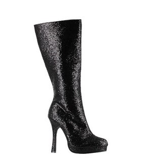 Link to Womens Glitter Knee High Boot - Black Footwear Similar Items in Pretend Play