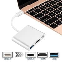 New Type C USB 3.1 to 4K HDMI USB-C 3 USB 3.0 in Adapter 3 in 1 Hub For Macbook Pro