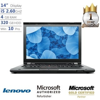 "Lenovo ThinkPad T430 Intel Core i5, 4GB, 320GB HD 14"" HD Display, Win 10 Laptop"