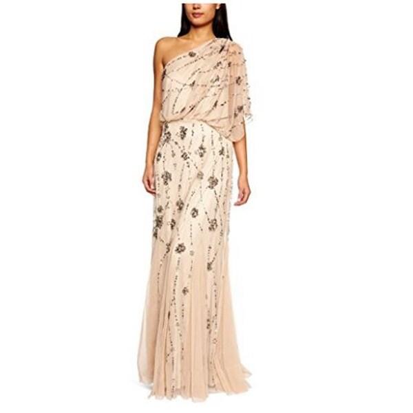 Adrianna Papell Women\'s One Shoulder Beaded Blouson Dress - Free ...
