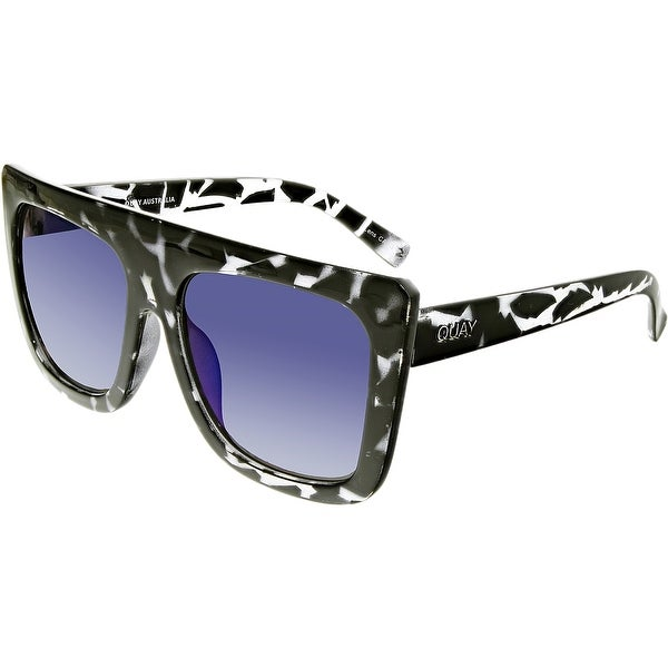 8257a08ef2 Shop Quay Women s Cafe Racer Square Sunglasses QU-000183-BLKTO BLUE - Free  Shipping On Orders Over  45 - Overstock - 18900984