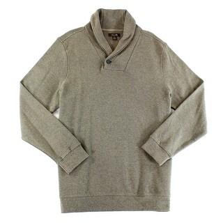 Tasso Elba NEW Brown Heather Mens Size Small S Shawl-Collar Sweater