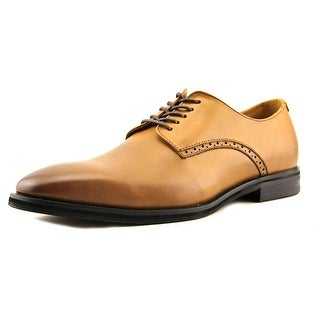 Alfani Marvin Men  Round Toe Leather Tan Oxford