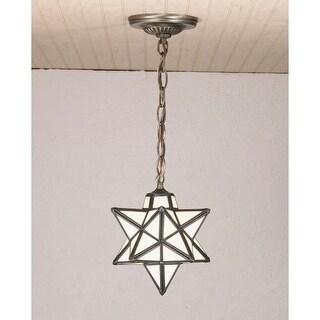 "Meyda Tiffany 21838 Single Light 9"" Wide Mini Pendant with Handmade Shade"