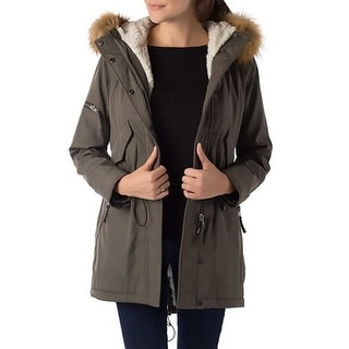 S13/NYC Womens Canyon Parka Faux Fur Hooded - L