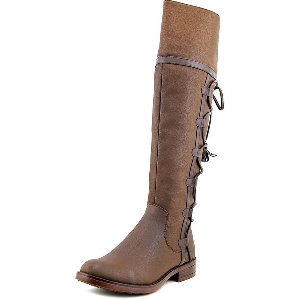 XOXO Selby Women Round Toe Synthetic Brown Knee High Boot