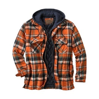 Legendary Whitetails Men's Maplewood Plaid Hooded Shirt Jacket