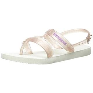 Havaianas Girls Joy Shimmer Slingback Sandals