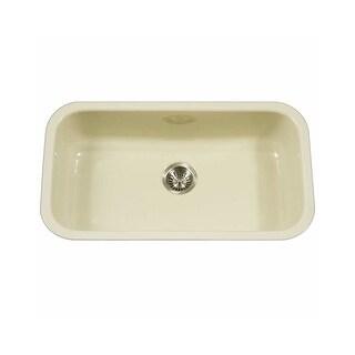 "Houzer PCG-3600 Porcela 30-9/10"" Single Basin Undermount Porcelain Enameled Kitchen Sink with Sound Dampening Technology - N/A"