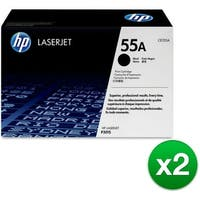HP 55A Black Original LaserJet Toner Cartridge f/ US Government (CE255AG)(2-Pack)