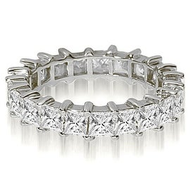 2.50 cttw. 14K White Gold Princess Shared-Prong Diamond Eternity Ring