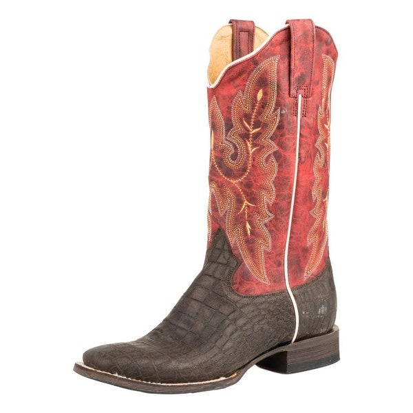 Roper Western Boots Womens Cocabelly Brown Red