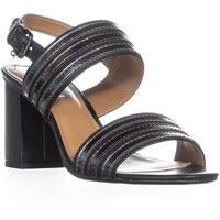 COACH Princeton Slingback Sandals, Black/Gunmetal - 8.5 us / 38.5 eu
