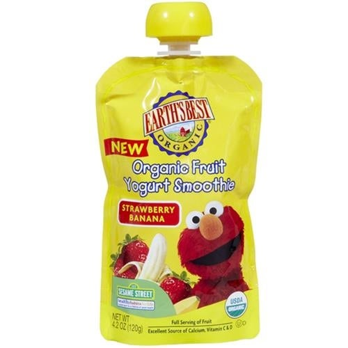 Earth's Best - Organic Strawberry Banana Yogurt Smoothie ( 12 - 4.2 OZ)
