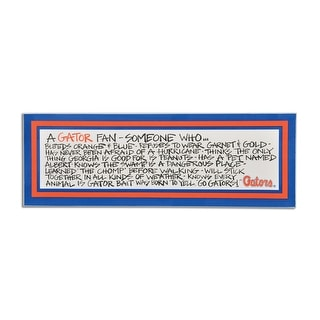 University of Florida Definition of a Fan Wooden Plaque
