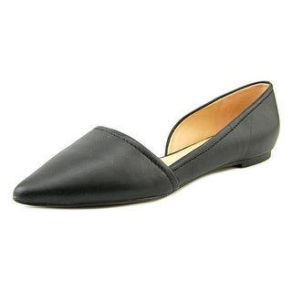 Franco Sarto L-Spiral Women Pointed Toe Leather Black Flats