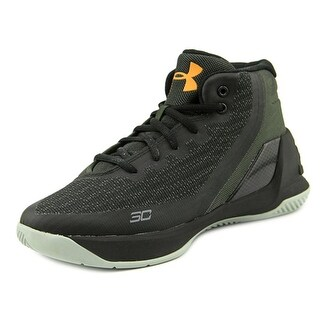 Under Armour PS Curry 3 Youth Round Toe Canvas Black Basketball Shoe
