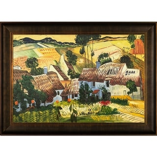 Vincent Van Gogh 'Thatched Houses against a Hill' Hand Painted Oil Reproduction