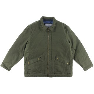 Tommy Hilfiger Mens Quilt Lined Collared Coat - M