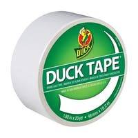 Duck Tape Colored Duct Tape, 1.88 in x 20 yd, White
