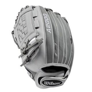 """Wilson Fastpitch Softball 12"""" Pitcher Glove Mitt Infield A2000 P12 2019 LHT Gray"""