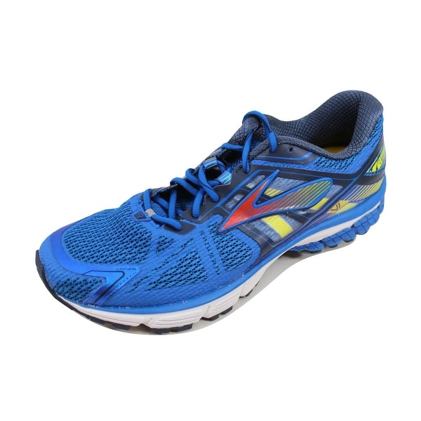 Brooks Men's Ravenna 6 Skydiver/Red Orange-Cyber Yellow 110186 1D 486
