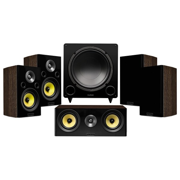 Signature Series Compact Surround Sound Home Theater 5.1 Channel Speaker System - Walnut (HF51WC)