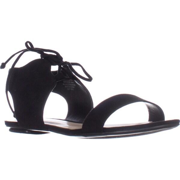 Nine West Jadlin Flat Lace Up Sandals, Black