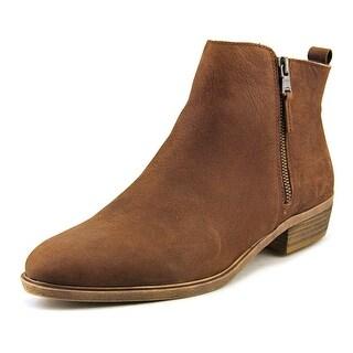 Lauren Ralph Lauren Shira Women Round Toe Leather Brown Ankle Boot