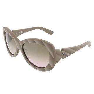 Diesel DL 0007/S 59P Matte Taupe Oversized Sunglasses - 58-15-140