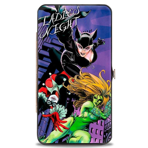 Gotham City Sirens Ladies Night Issues #19 + #11 Cover Poses Hinged Wallet - One Size Fits most