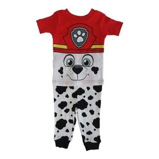Nickelodeon Baby Boys White Red Paw Patrol Cotton Short Sleeve 2Pc Pajama