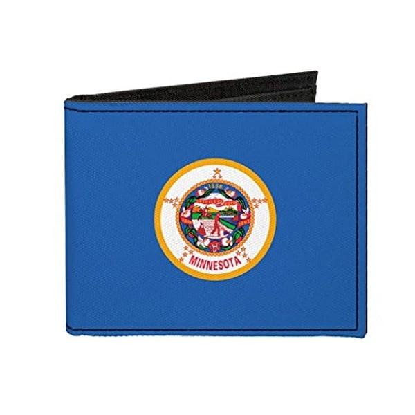 Buckle-Down Canvas Bi-fold Wallet - Minnesota Flag Accessory