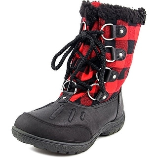 London Fog Uxbridge Women Round Toe Synthetic Black Snow Boot