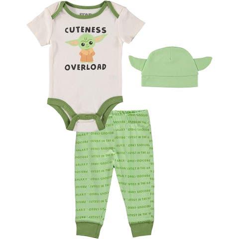 Star Wars Baby Yoda Newborn Boys 3-Piece Hat Set