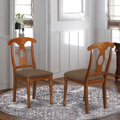 Copper Grove Croix Napoleon-styled Saddle Brown kitchen chair