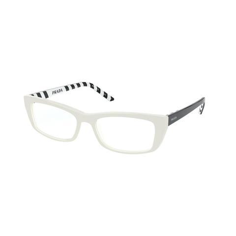 Prada PR 10XV 7S31O1 54 Ivory Womens Rectangle Eyeglasses