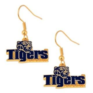 Memphis Tigers Gold Dangle Logo Earring Set NCAA Charm Gift