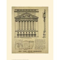 ''New York Stock Exchange'' by Roger Vilar Architecture Art Print (18 x 14 in.)