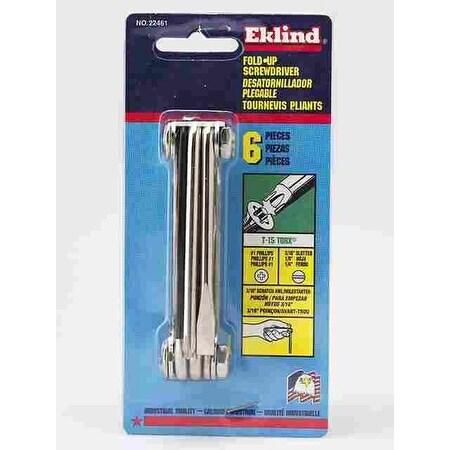 Eklind 22461 Fold-Up Screwdriver Set, 6 Piece