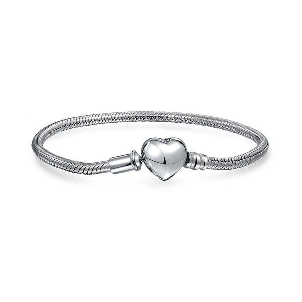 925 Sterling Silver ROSE HARMONIOUS HEARTS Charm Bead
