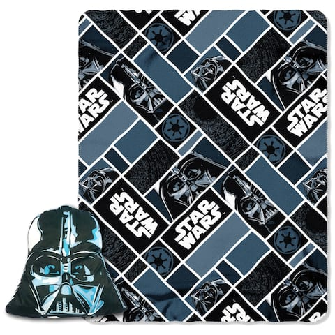 "Star Wars Darth Vader Character Pillow and 40"" by 50"" Fleece Throw"