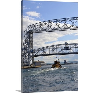 """""""Aerial lift bridge in downtown area of Duluth, Minnesota"""" Canvas Wall Art"""