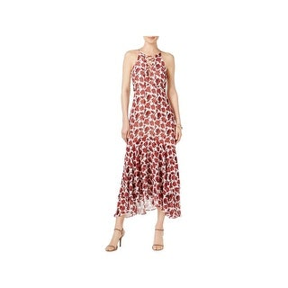 Betsey Johnson Womens Maxi Dress Sleeveless Lace-Up