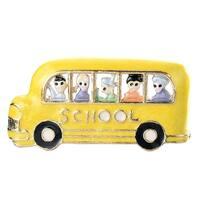 Hand Painted Yellow School Bus w/ Kids