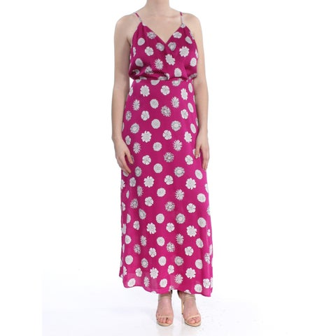 VINCE CAMUTO Womens Purple Floral Maxi Dress Size: S