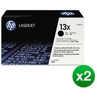 HP 13X Black Original LaserJet Toner Cartridge (Q2613X)(2-Pack)
