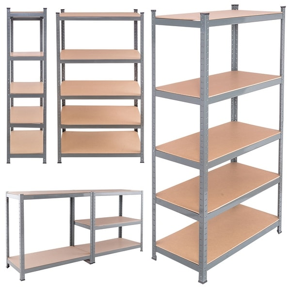 Shop Costway Heavy Duty Steel 71'' 5 Level Garage Shelf
