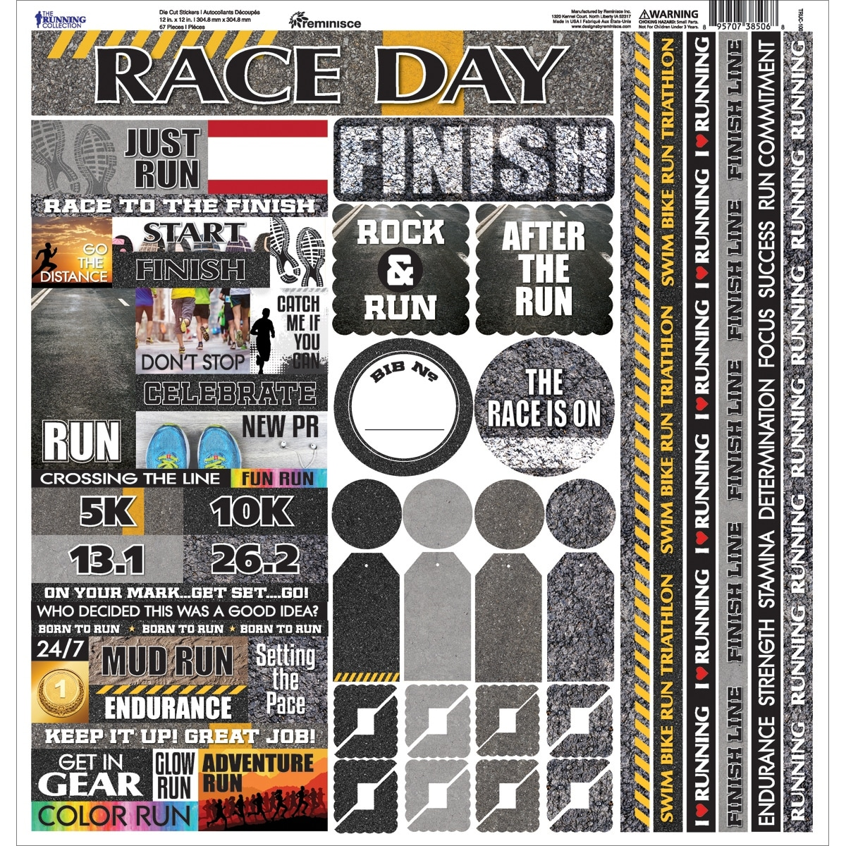 4.5 by 6-Inch Sheet-Running Reminisce Signature Dimensional Stickers